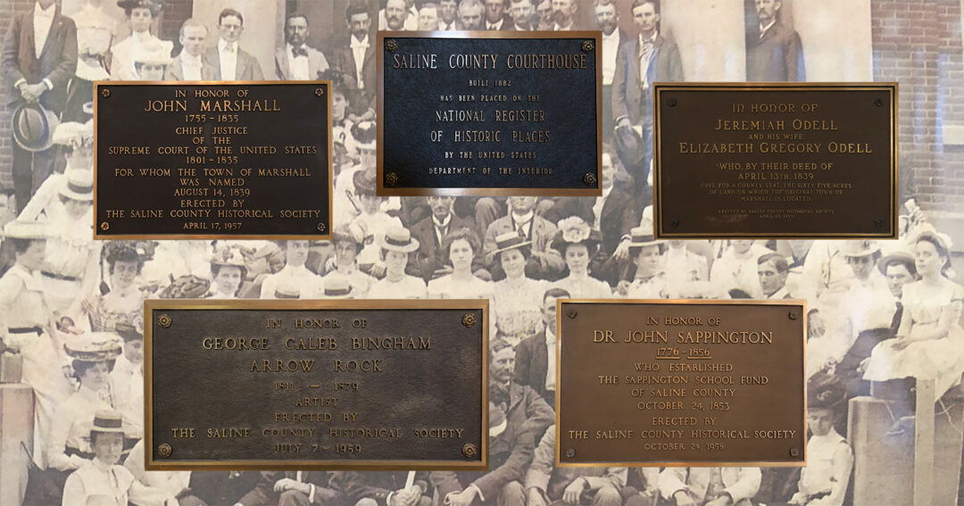 Plaques at the Saline County Courthouse